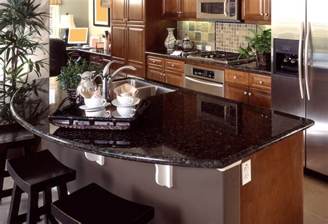 Black Kitchens Designs by Granite Countertops Colors Amp Pictures Of Popular Types
