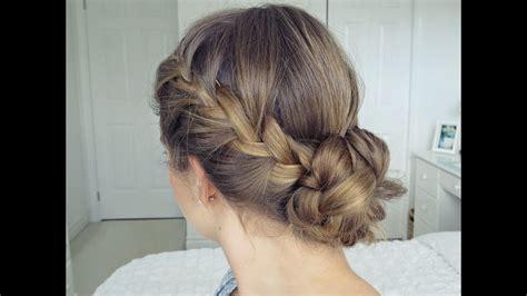 bohemian braid updo hair tutorial simple easy