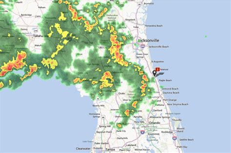 severe thunderstorm warning in effect for palm coast and