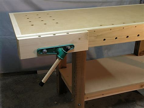 woodwork bench vice karen s workbench week of workbenches the wood whisperer