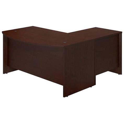 bush bow front desk bush sre003 60 quot w bow front l shaped desk shell