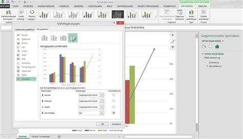 Tutorial Excel Grafieken | excel tip grafieken maken met secundaire as