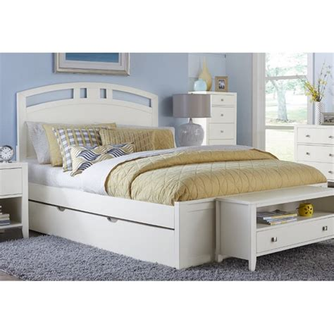 trundle bed queen ne kids pulse queen panel bed with trundle in white 33023nt