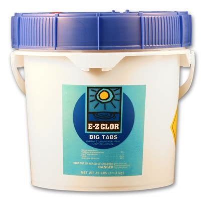 ez bid ez clor big tabs pool chlorine 8 lbs california custom