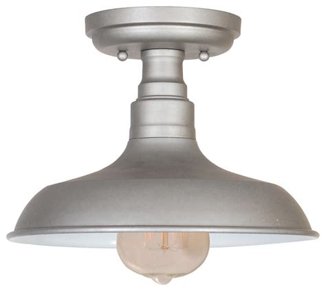 kimball 1 light semi flush ceiling mount galvanized