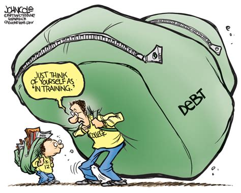 credit card debt economic cartoons 2016 democrats policies on rising college tuition costs and