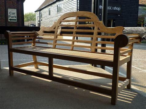 lutyens bench lutyens teak garden bench