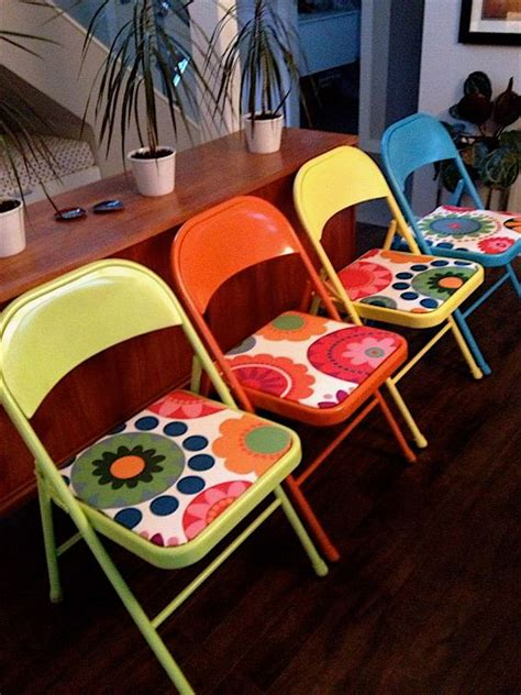 painting metal chairs metal folding chairs made new again spray paint and