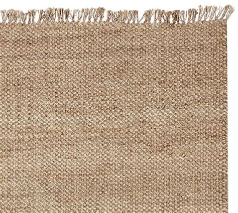 Pottery Barn Jute Rug Ethan Jute Rug With Fringe Swatch Pottery Barn