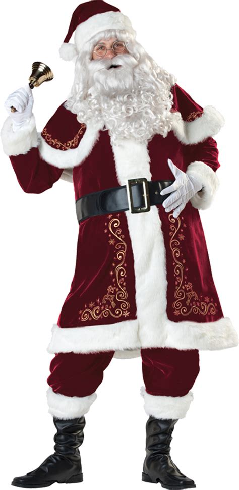 traditional older santa suit men costumes santa jolly ol