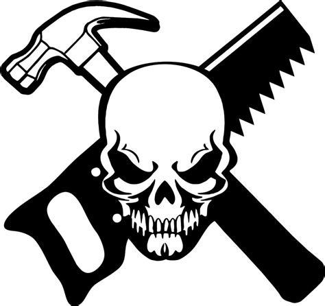 Stiker Sticker Vinyl Ukuran 8x10cm carpenter skull construction worker builder car truck window vinyl decal sticker ebay