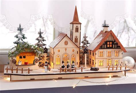 Weihnachtsdeko Fensterbank Mit Beleuchtung by Led Weihnachtsdorf Aus Holz Kaufen Otto