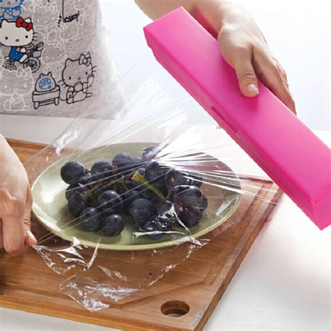 plastic saran wrap 1 colorful creative cling food grade pp stainless steel blade