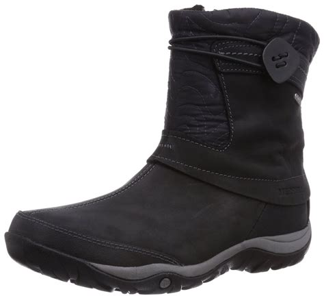 black s boots s merrell dewbrook zip waterproof boot black j69270
