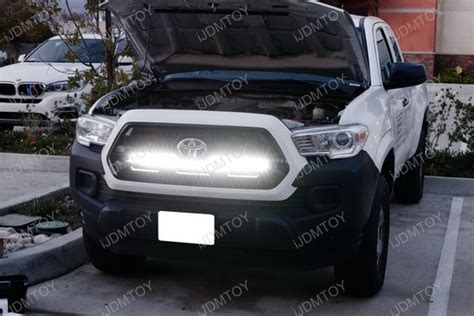 2016 Up Toyota Tacoma Behind Grille 180w Led Light Bar Kit Toyota Tacoma Led Light Bar