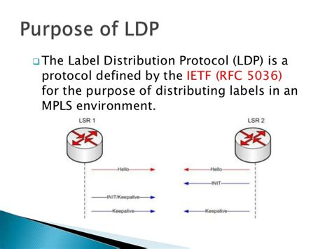 Protocol For Detox Of Extended Release by Label Distribution Protocol