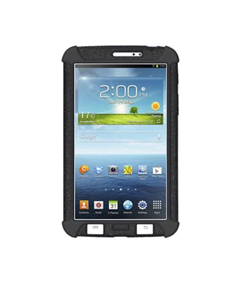 Samsung Tab 3 7 0 T2110 amzer 96081 silicone skin jelly black for samsung