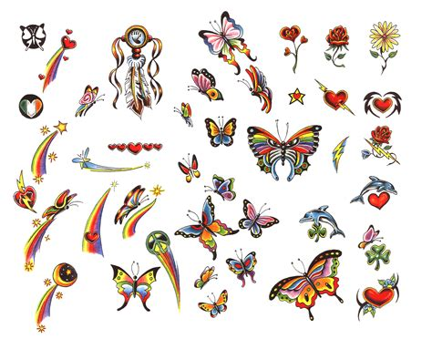 small colorful tattoos designs small colored butterfly tattoos designs