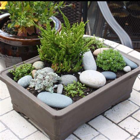 tabletop rock garden and summer unique ideas for decorating garden