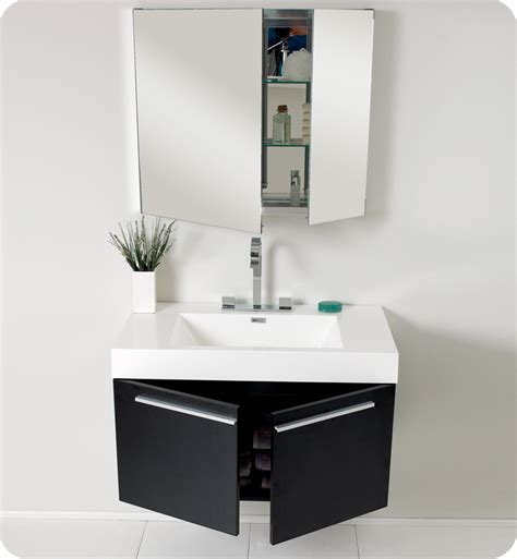 Modern Black Bathroom Vanity Fresca 36 Quot Black Modern Bathroom Vanity With Medicine Cabinet