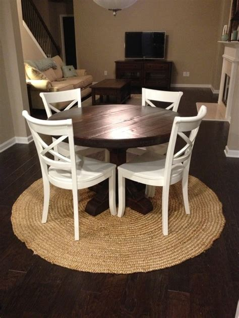 eclectic dining room tables round rustic pedestal table dark finish eclectic