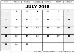 july 2018 calendar template monthly calendar 2017