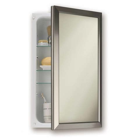 bathroom medicine cabinets with mirrors recessed recessed medicine cabinet no mirror homesfeed