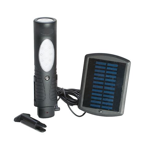Portable Outdoor Lights Portable Solar Powered Outdoor Rechargeable Led Shed Light With Charger Base Ebay