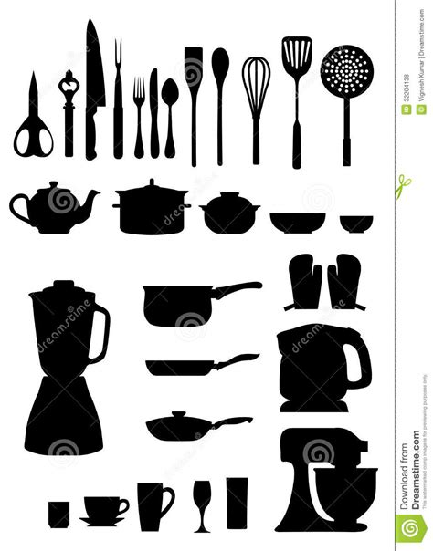 Kitchen Silhouettes Royalty Free Stock Photos   Image: 32204138
