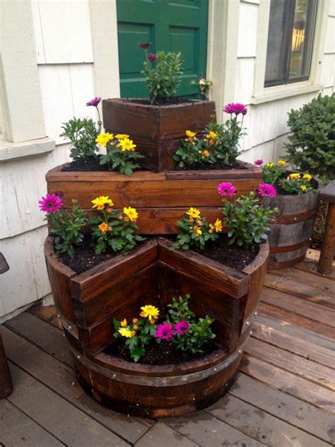 wine barrel planter ideas 20 diy ways to wine barrel projects home design and interior