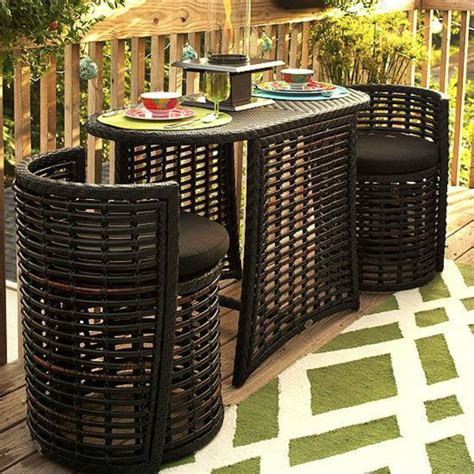 space saving patio furniture you eat outdoor dining furniture in harmony with nature