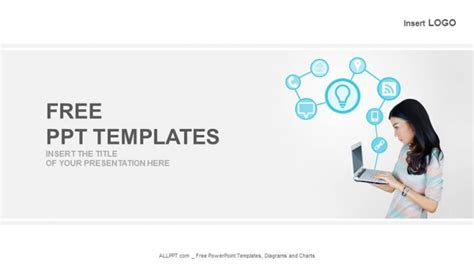 powerpoint templates for technology presentations laptop with technology icons business powerpoint templates