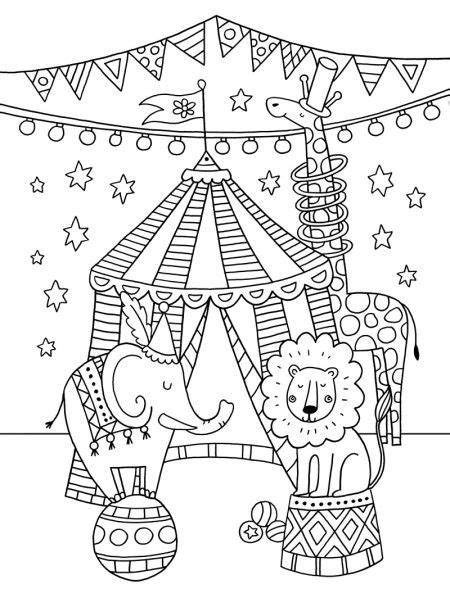 circus coloring pages preschool felicity french circus colouring card pinteres