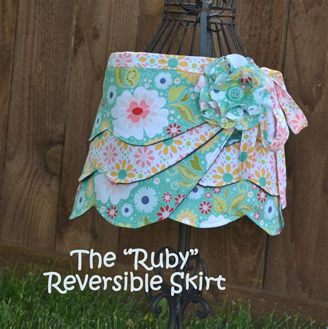 pattern for a fabric shawl reversible wrap skirt girl pdf sewing pattern fabric flower