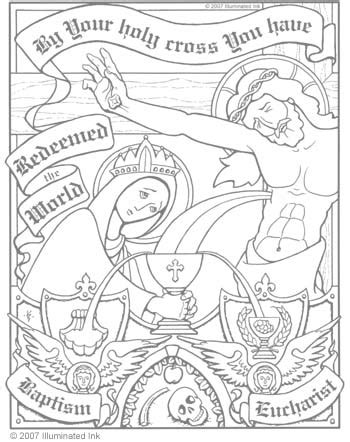 catholic lent coloring pages coloring pages