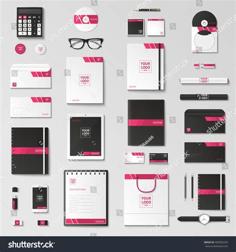 template mockup card set corporate identity template set business stationery stock