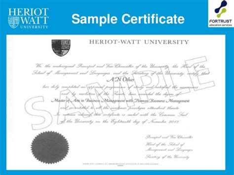 Heriot Watt Mba Entry Requirements by Heriot Watt Malaysia Cus