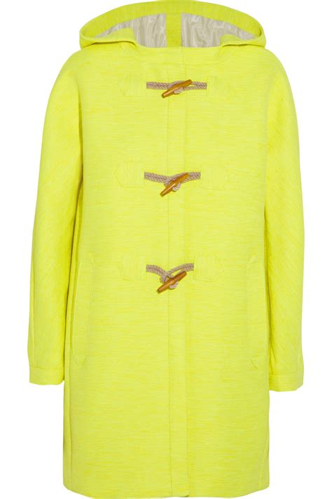 Gap Yellow Duffle Jacket lyst j crew collection neon canvas duffle coat in yellow