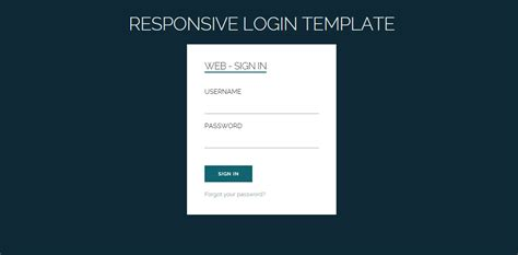 40 Powerful Free Css3 Html5 Login Form Templates Dovethemes Responsive Web Form Template
