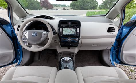 nissan leaf interior car and driver