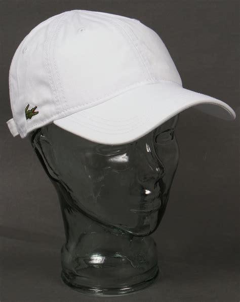 Lacoste Baseball Cap In White lacoste gabardine baseball cap white mens