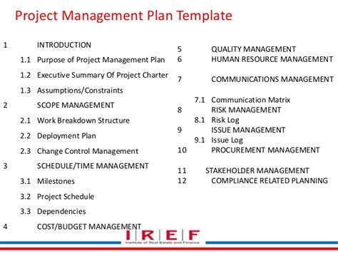 project management work package template 2 1 integration management