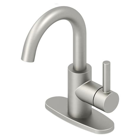 jacuzzi bathtub faucets shop jacuzzi duncan bushed nickel pvd 1 handle 4 in