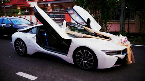 bmw i8 gold redorca malaysia wedding and event car rental bmw i8