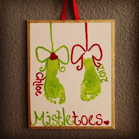 mistletoe craft for 1000 ideas about mistletoe footprint on