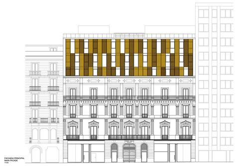Gallery Of Hotel Vincci Gala Barcelona Tbi Architecture Hotel Building Plans And Elevations