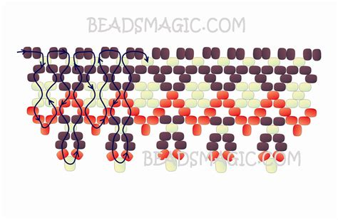 pattern magic tutorial free pattern for necklace folk festival beads magic 2