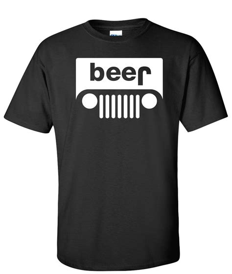 jeep beer beer jeep logo graphic t shirt supergraphictees