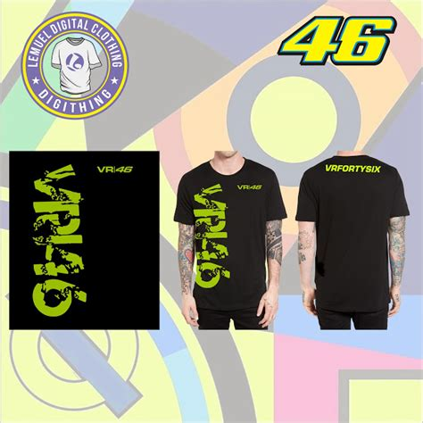 Kaos Vr46 Print sablon digital barometer sticker digital apparel
