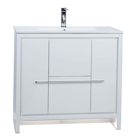 High Bathroom Vanities Buy Cbi Enna 36 Inch Modern Bathroom Vanity High Gloss White Tn La900 Hgw On Concepbaths